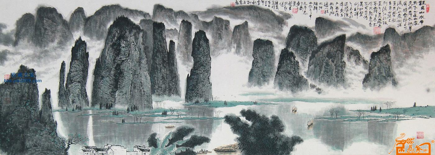 名家 杨德泉 国画 - 桂林山水